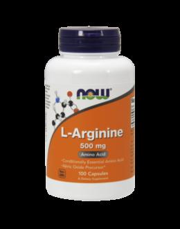 Now L-Arginine 500 mg - 100 Capsules