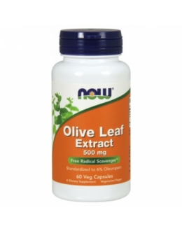 Now Olive Leaf Extract 500 mg - 60 Veg Capsules