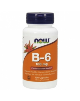 Now B-6 100mg 100 Capsules