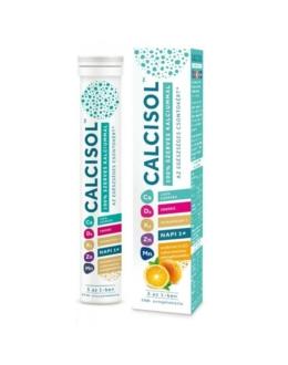 Calcisol 100% szerves kalcium+D3+K2+Zn+Mn pezsgőtabletta