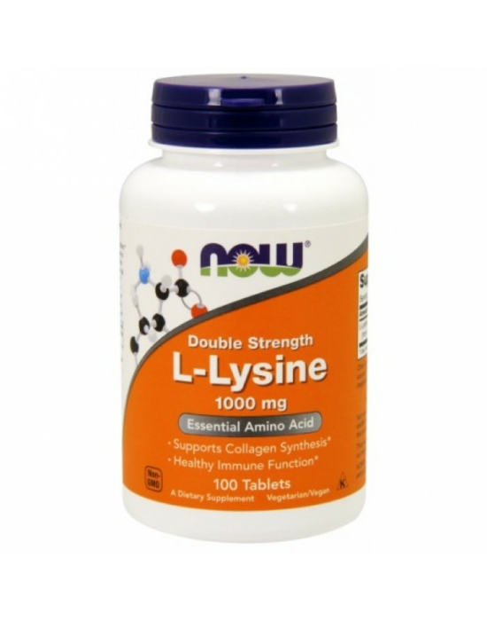 Now L-Lysine 1,000 mg Double Strength - 100 Tablets
