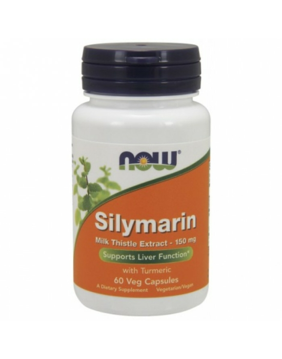 Now Silymarin Milk Thistle Extract 150 mg - 60 Veg Capsules